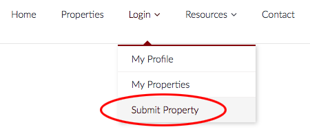 submit property screenshot